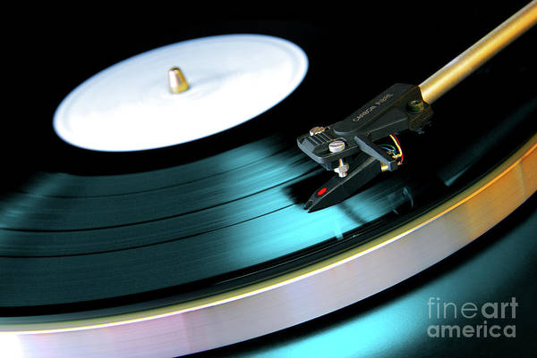 Abstract Art Print featuring the photograph Vinyl Record by Carlos Caetano