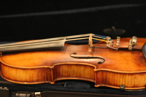 Music Art Print featuring the photograph Violin by Linda Russell