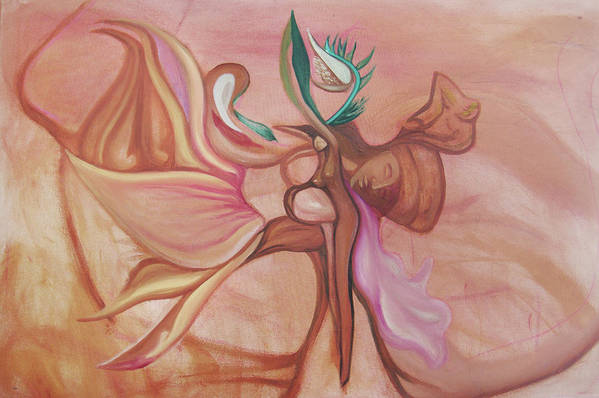 Woman Art Print featuring the painting Virtue Of Woman by MandyCka Johnson