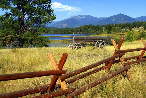 Landscape Print featuring the photograph Wagon West by Marty Koch