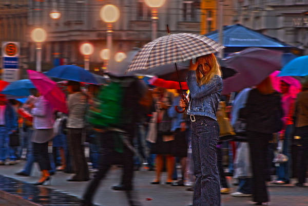 Redhead Art Print featuring the photograph Waiting In The Rain by Don Wolf
