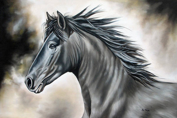 Horse Art Print featuring the painting Wanapun by Ilse Kleyn