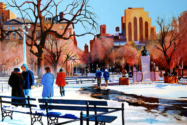 Washington Square Art Print featuring the painting Washington Square by John Tartaglione
