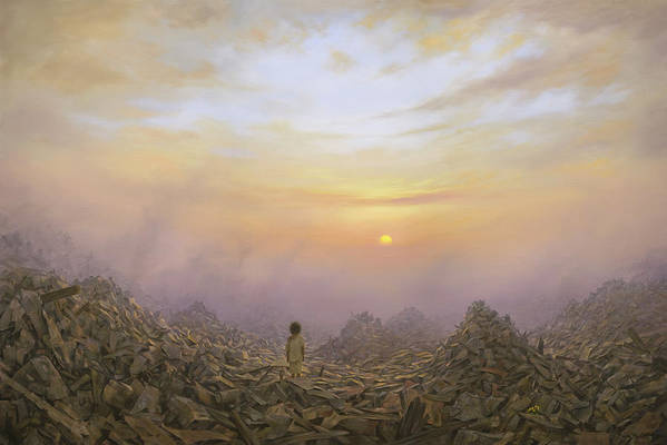 Landscape Art Print featuring the painting Wasteland by Brian McCarthy