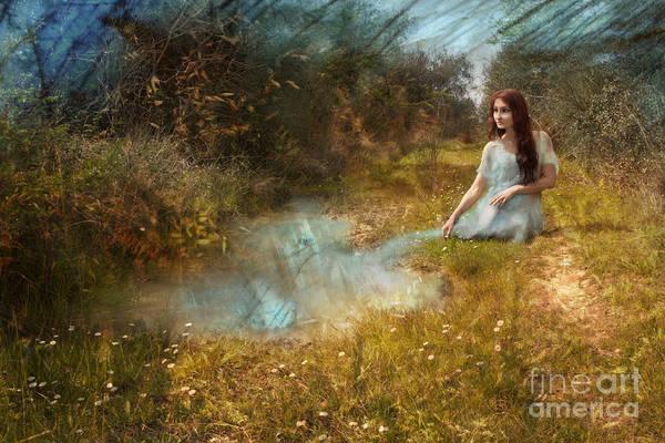 Girl Art Print featuring the photograph Water Girl by Angel Ciesniarska