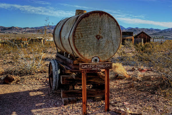 Nevada State Museum Art Print featuring the photograph Water Trailer by Stephen Campbell