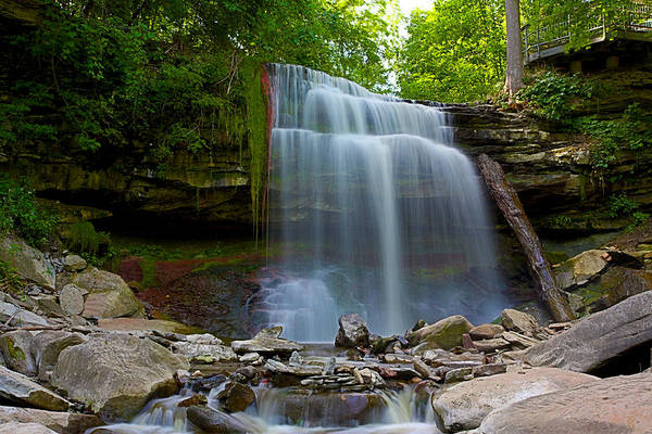 Hamilton Art Print featuring the photograph Waterdown Falls by Ray Akey