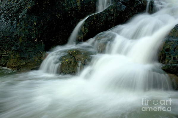 Asia Art Print featuring the photograph Waterfall Cascading Into Li Jiang River by Sami Sarkis