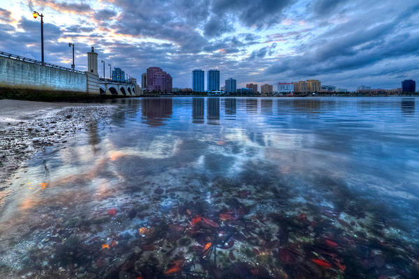 Clouds Art Print featuring the photograph Watery Treasure by Debra and Dave Vanderlaan