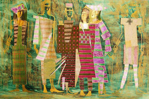 Woman Art Print featuring the mixed media We Are Still Growing by Kseniya Nelasova