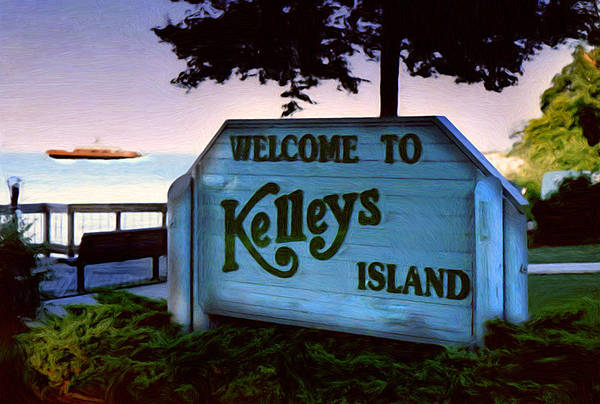 Island Art Print featuring the painting Welcome To Kelleys Island by Kenneth Krolikowski