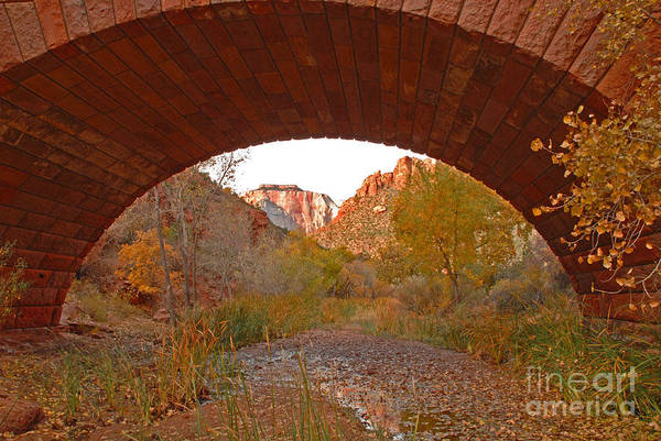 Utah Art Print featuring the photograph West Temple From Pine Creek Bridge by Dennis Hammer