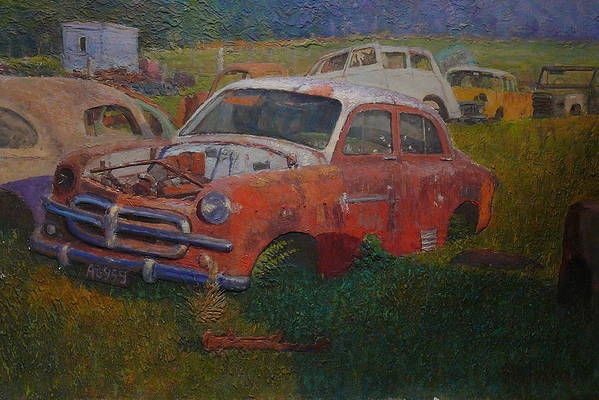 Old Cars Art Print featuring the painting Westland 1980s by Terry Perham