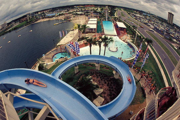 Waterslide Art Print featuring the photograph Wet And Wild by Carl Purcell