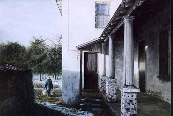 Farm House Art Print featuring the painting Where The Heart Is by Steven J White PWS