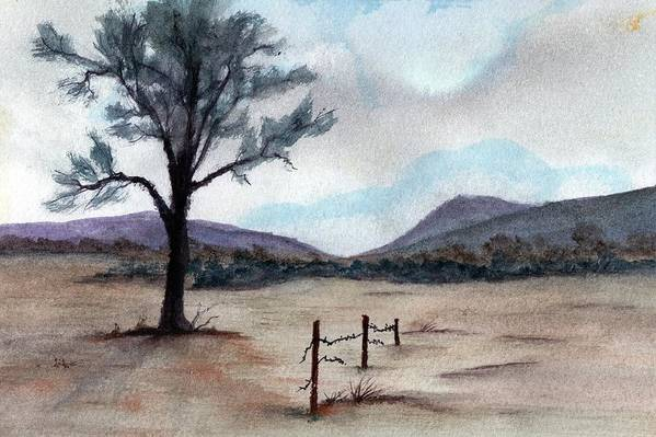 Western Landscape Art Print featuring the painting Where The West Began by James Michael Johnson