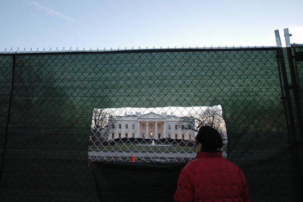 Washington Dc Art Print featuring the photograph White House Fence Washington Dc by Thomas Michael Corcoran