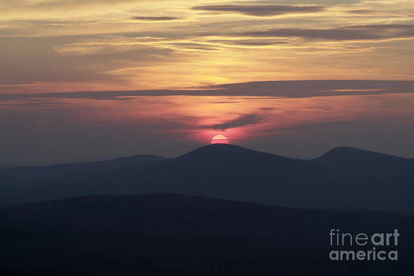 Alpenglow Art Print featuring the photograph White Mountains Nh - Sunset by Erin Paul Donovan