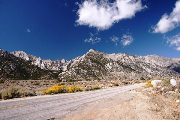 Road Art Print featuring the photograph Whitney Portal Road by Michael Courtney