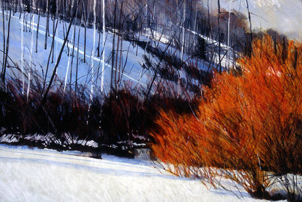Willows Art Print featuring the painting Willows At Babbish Gulch by Mark Henthorn