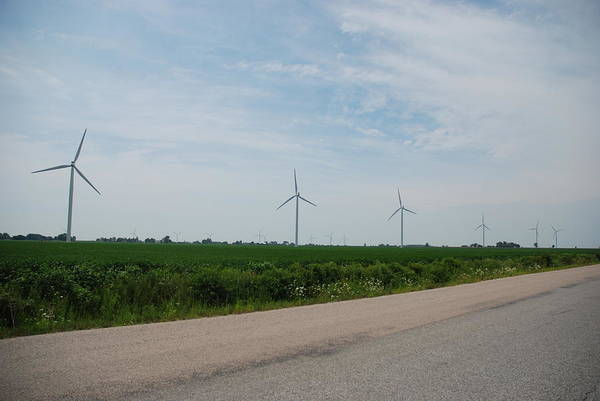 Canada Art Print featuring the photograph Wind Farm by Clay Peters Photograhy