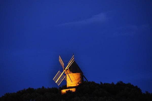 France Windmills Europe Art Print featuring the photograph Windmill Collioure by K C Lynch