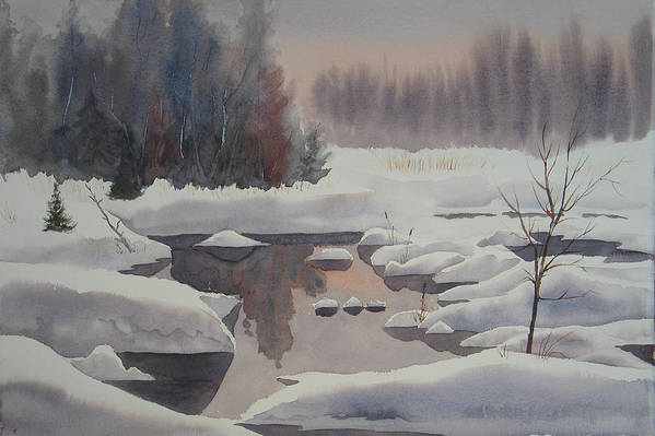 Winter Art Print featuring the painting Winter Magic by Debbie Homewood