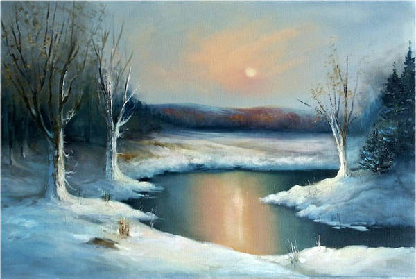 Winter Art Print featuring the painting Winter Sun by Sally Seago