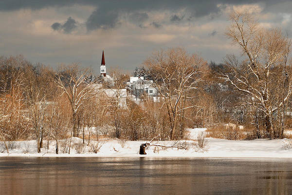 Winter Art Print featuring the photograph Winter View Of Allenstown by Greg Fortier