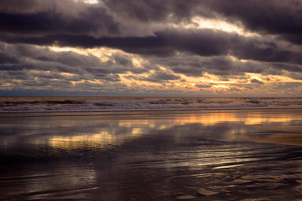 Landscapes Art Print featuring the photograph Wispy Waves by Jennifer Owen
