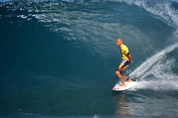 Kelly Slater Art Print featuring the photograph World Champion X11 by Kevin Smith