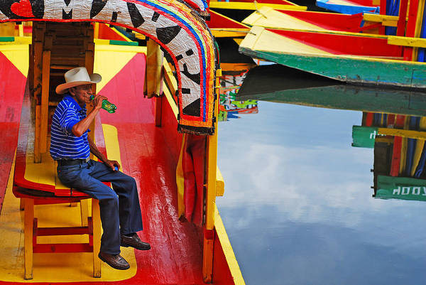 Skip Hunt Art Print featuring the photograph Xochimilco by Skip Hunt