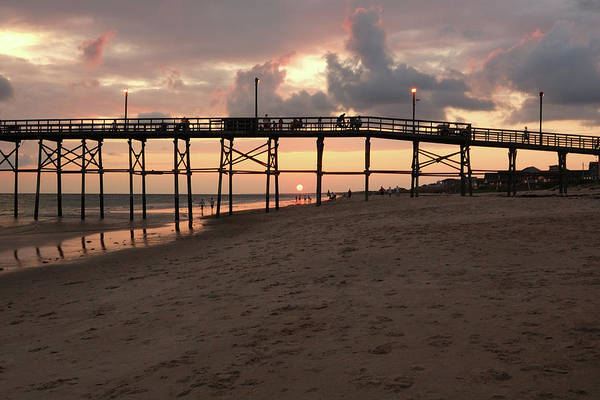 Pier Art Print featuring the photograph Yaupon Pier Sunset by Kevin Work