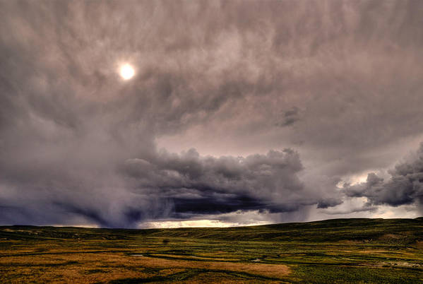 National Park Art Print featuring the photograph Yellostone Sky by Patrick Flynn