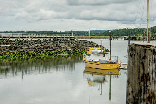 Bandon Art Print featuring the photograph Yellow Boat by Joan Baker