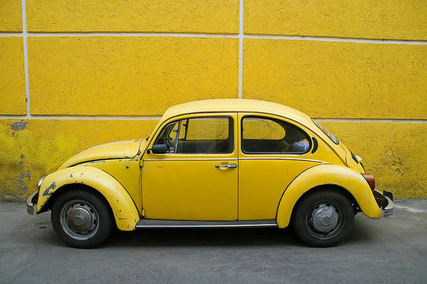Yellow Art Print featuring the photograph Yellow Bug by Skip Hunt