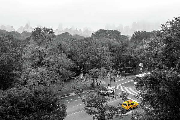 Big Apple Art Print featuring the photograph Yellow Cabs Near Central Park, New York by Art Calapatia