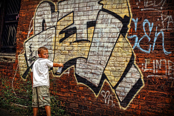 Young Art Print featuring the photograph Young Vandal Too by Gordon Dean II