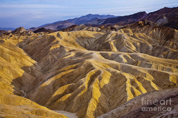 California Art Print featuring the photograph Zabriskie Badlands by Greg Clure