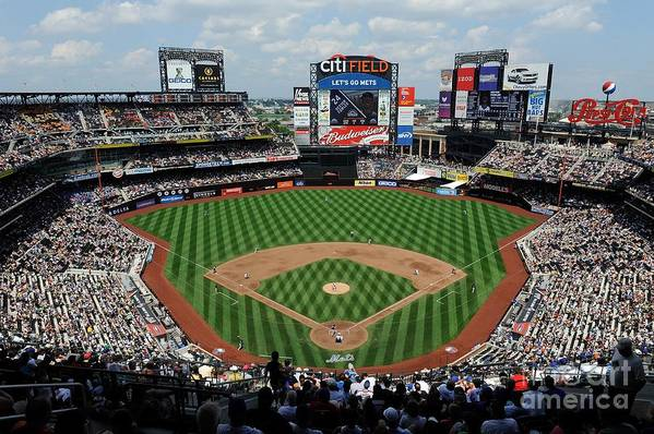 Citi Field Art Print featuring the photograph Colorado Rockies V New York Mets by G Fiume