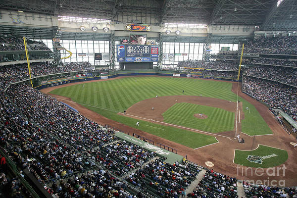 Wisconsin Art Print featuring the photograph Pittsburg Pirates V Milwaukee Brewers 1 by Jonathan Daniel