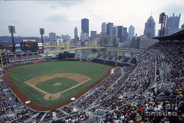 Pnc Park Art Print featuring the photograph View Of Stadium by Jamie Squire