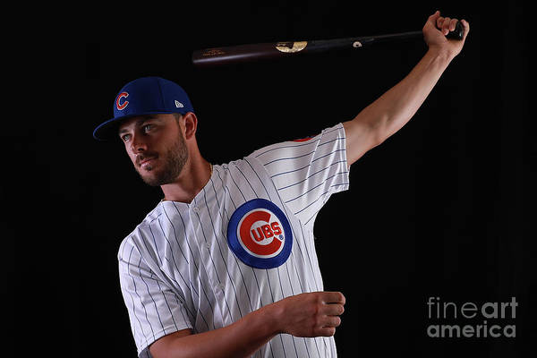 Media Day Art Print featuring the photograph Chicago Cubs Photo Day 12 by Gregory Shamus