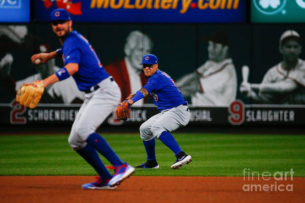 People Art Print featuring the photograph Chicago Cubs V St Louis Cardinals 12 by Dilip Vishwanat