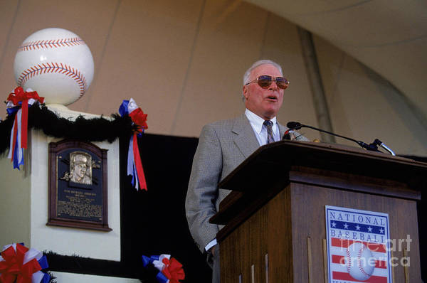 Cooperstown Art Print featuring the photograph 1995 Cooperstown Hall Of Fame Inductions by Rich Pilling