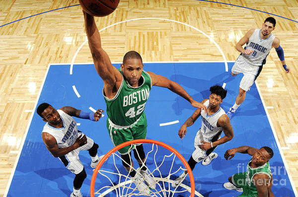 Nba Pro Basketball Art Print featuring the photograph Boston Celtics V Orlando Magic 2 by Fernando Medina
