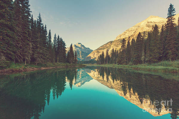 Serenity Art Print featuring the photograph Glacier National Park, Montana by Galyna Andrushko