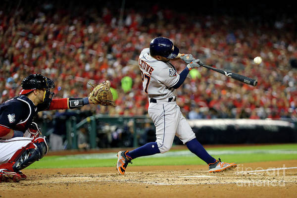 American League Baseball Art Print featuring the photograph 2019 World Series Game 5 - Houston by Alex Trautwig