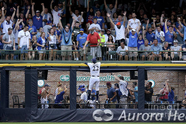 People Art Print featuring the photograph Chicago Cubs V Milwaukee Brewers 21 by Dylan Buell