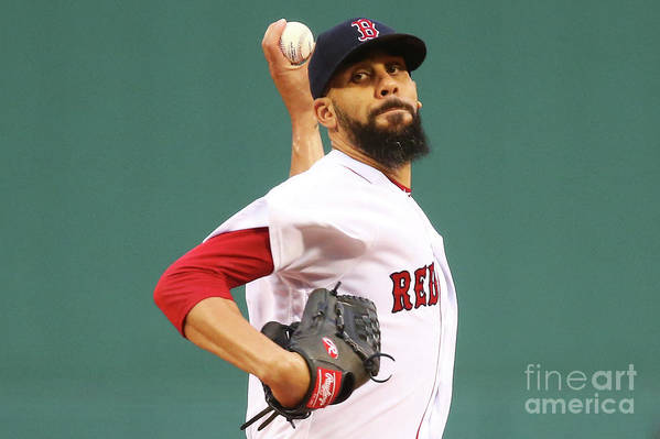 David Price Art Print featuring the photograph Tampa Bay Rays V Boston Red Sox 5 by Adam Glanzman